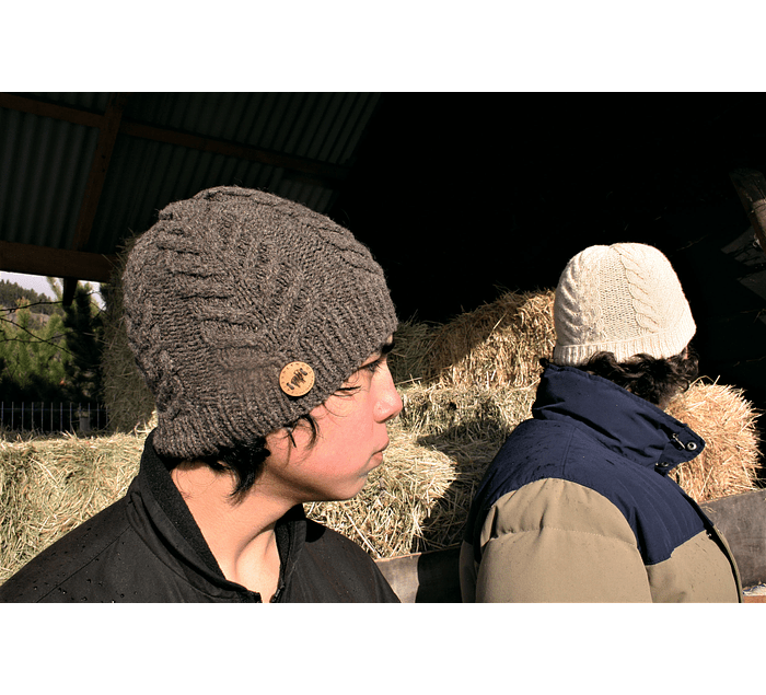 """Antler Toque"" hand-knitted hat - Wildlife Friendly® certified"