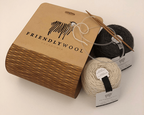 Caja de lujo desarmable de madera para 4 ovillos