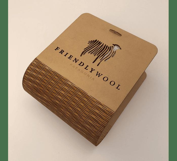 Caja de lujo desarmable de madera para 6 ovillos