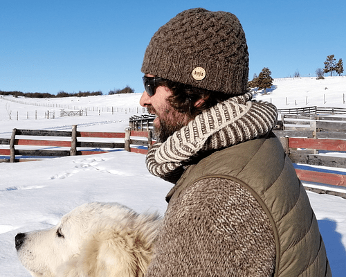 "Gorro de lana ""Apple Pie"" tejido a mano - Unisex - Certificado Wildlife Friendly®"