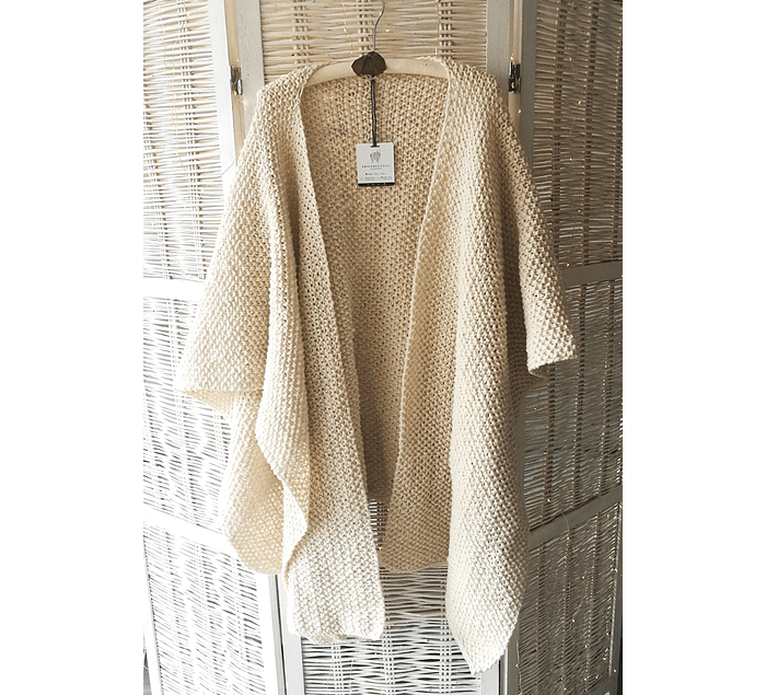 """""""Plain"""" hand-knitted wool roan"""
