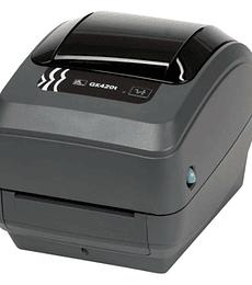 Impresora de transferencia térmica Zebra GK420 printer 203 DPI USB 10/100 Ethernet connectivity