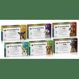 Simparica 3 Comprimido - Antiparacitario Para Perros