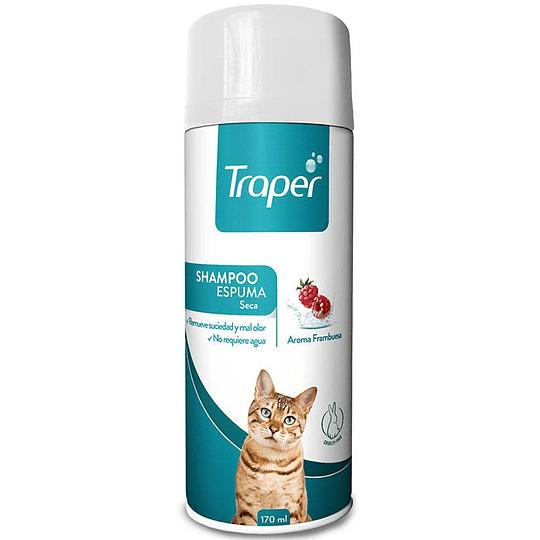Traper Shampoo Espuma Seca Gato 170ml