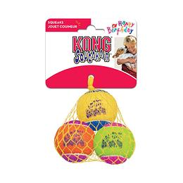 Kong SqueakAir Happy Birthday Balls