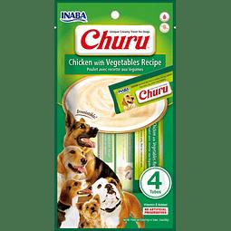 Churu Perro Pollo Vegetales 4 tubos 56g