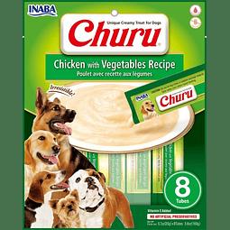 Churu Perro Pollo Vegetales 8 tubos 160g