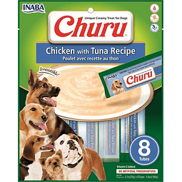 Churu Perro Pollo Atun 8 tubos 160g