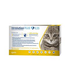 Revolution Plus Gatos - 1.25 a 2.5 kilos