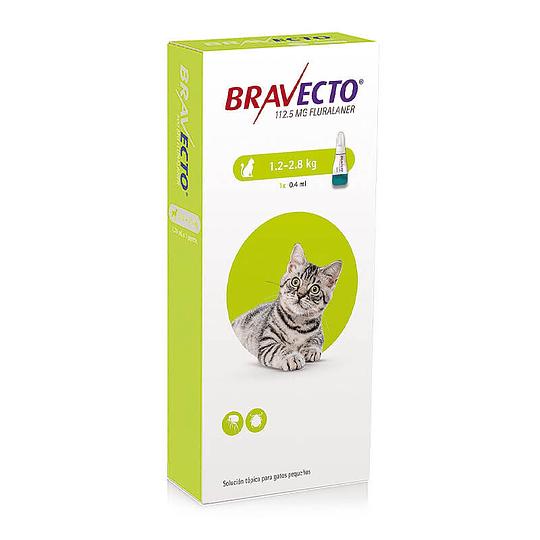 Pipeta Bravecto Gatos 1.2 - 2.8 kg