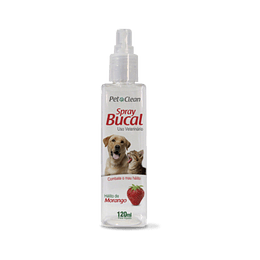 Pet Clean Spary Bucal Tutti-Frutti 120ml