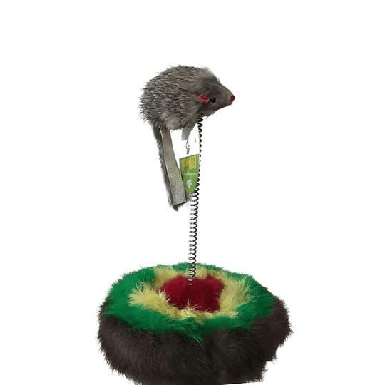 Raton Resorte con Rascador para gatos