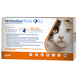 Revolution Plus Gatos - 2.5 a 5 kilos