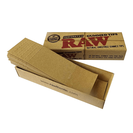 RAW Perforated Gummed Tips - Boquillas con pegamento