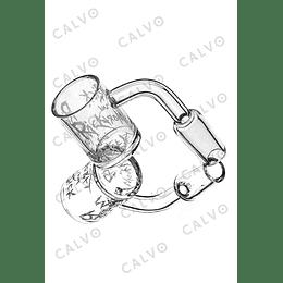 Calvo Glass Banger Logo Rick & Morty