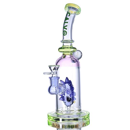 Calvo Glass Bong Rick Sanchez - Purple 26cm