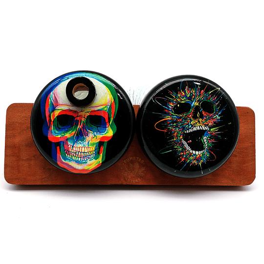 Bukket Psicodelic Skull