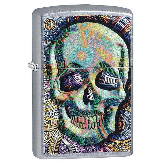 Encendedor Geometric Skull Zippo