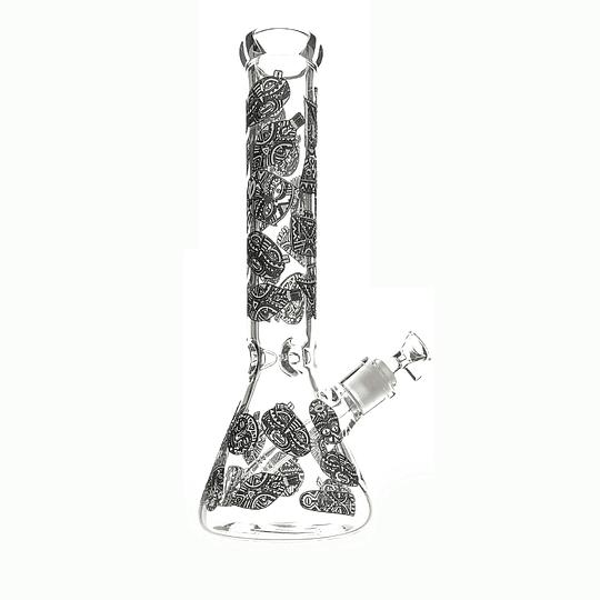 Bong Beaker Azteca Fluor  - 35.5cm