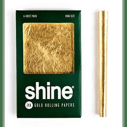 Shine® 24K Pack 6 papeles de oro - Tamaño King Size
