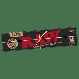 Papelillos RAW Black King Size Slim - Sabanas