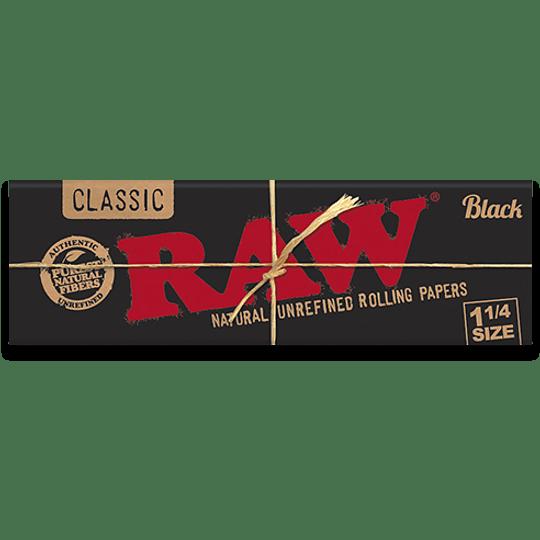 Papelillos RAW Black 1 1/4
