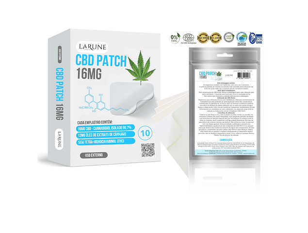 CBD Canabidiol 16MG - 10 Patch PharmaPack 9+3
