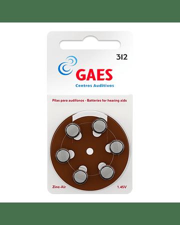 Pilas Audífono Gaes Premium Latam 312 Pack 6
