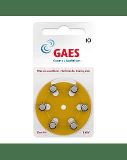 Pilas Auxiliar Auditivo Gaes Premium Latam 10 Pack 6