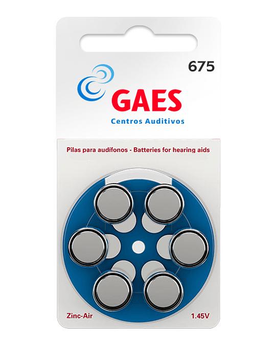 Pilas Auxiliar Auditivo Gaes Premium Latam 675 Pack 6