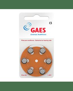 Pilas Auxiliar Auditivo Gaes Premium Latam 13 Pack 6