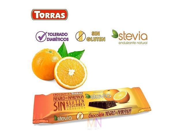 Chocolate negro con naranja (35g)