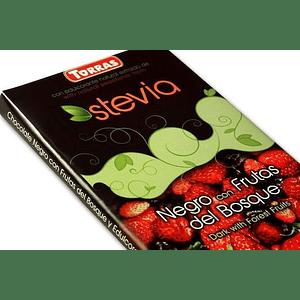 Chocolate negro y frutos del bosque con Stevia (125g)