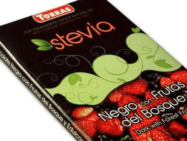 Chocolate negro y frutos del bosque con Stevia (125g)