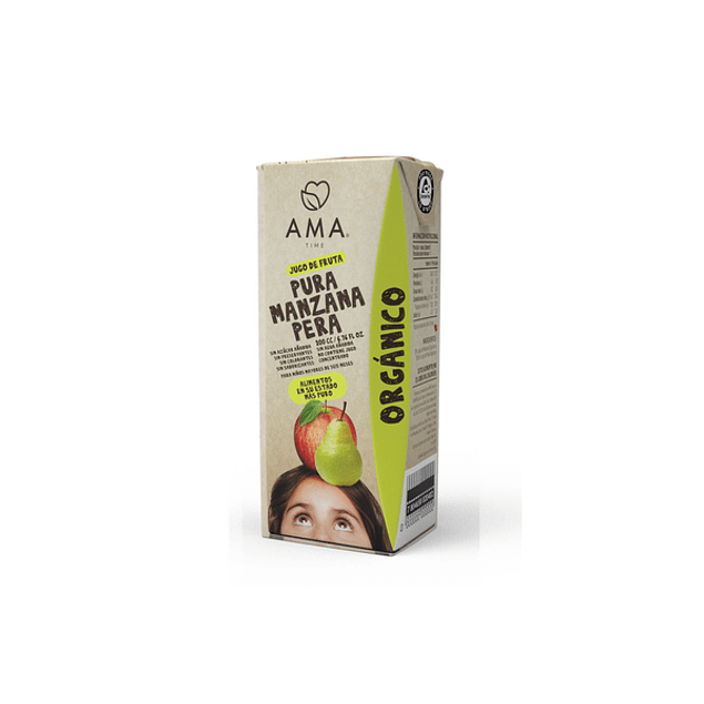 Jugo Manzana Pera orgánico 200 Ml
