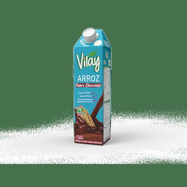 Leche de arroz con sabor de Chocolate Vilay 1L