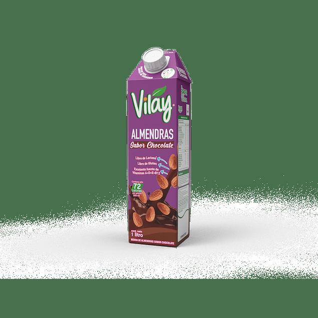 Leche de almendras con sabor a chocolate Vilay 1L