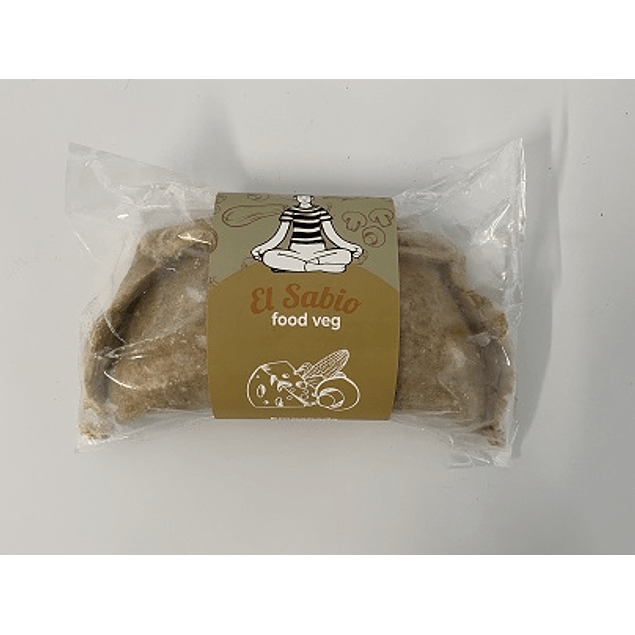 Empanada de queso vegetal, champiñón y choclo