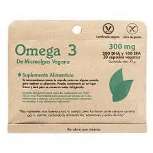 Omega 3 Microalgas vegano 30 capsulas 300 Mg
