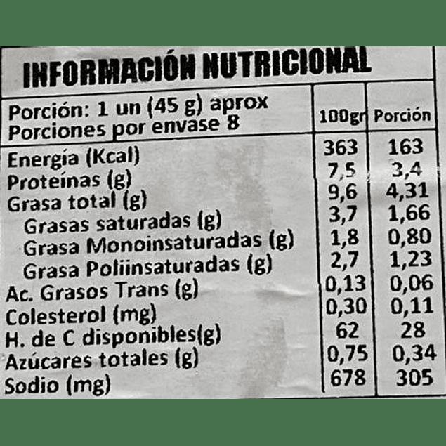 Empanadas Napolitana para Freir - 8un