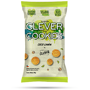 Clever cookies Coco Limón 30 Grs