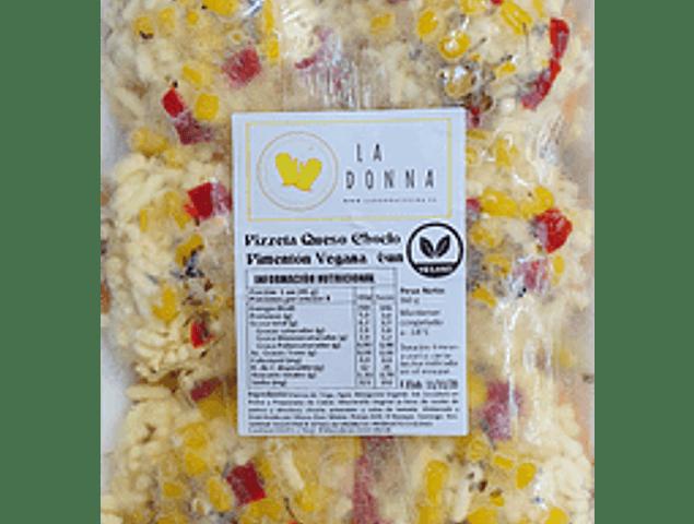 Pizzetas veganas de Choclo-Pimentón-Queso 6 Unidades