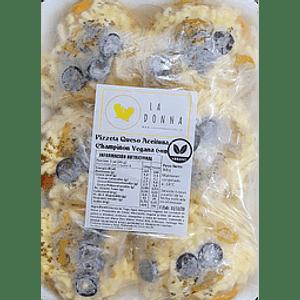 Pizzetas veganas de Aceituna Champiñon y Queso 6 Unidades