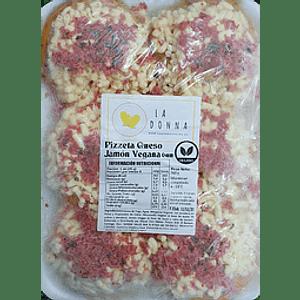 Pizzetas veganas de Queso y jamón 6 Unidades