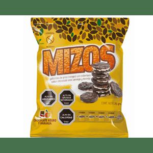 Galletas de arroz Mizos Chocolate Naranja 25 Gr