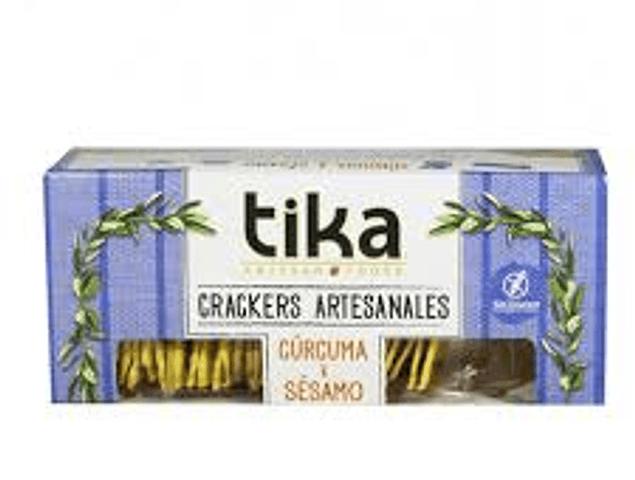 Tika Crackers Cúrcuma & Sésamo 140 Grs