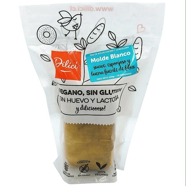 Pan de molde blanco (Sin gluten, Vegano)
