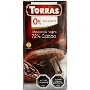 Chocolate Negro72% sin azúcar ni gluten 75 grs