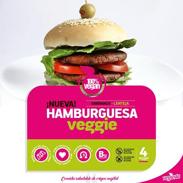 Pack 4 hamburguesas de garbanzos Vegusta