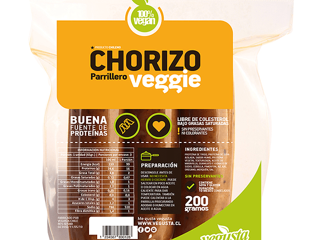 Chorizos Veggie Vegusta